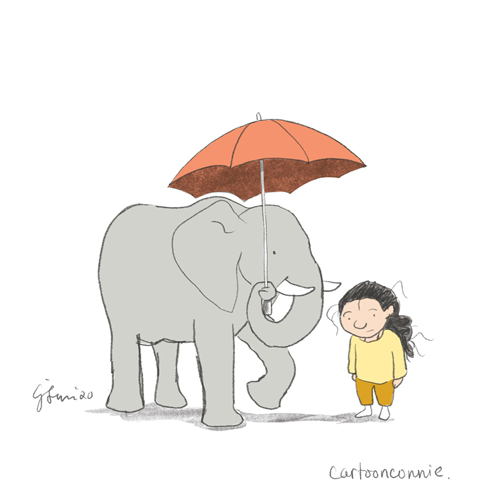 sketchbook, illustration, elephant, connie sun, cartoonconnie