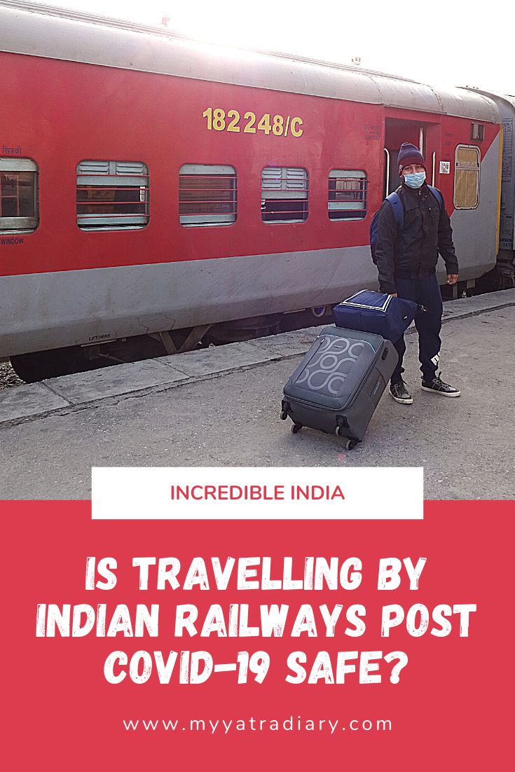 Travelling Indian Railways Post Covid 19 Safe Pinterest Graphic
