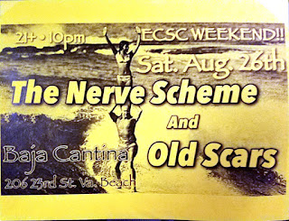 Flyer - The Nerve Scheme and Old Scars - Baja Cantina