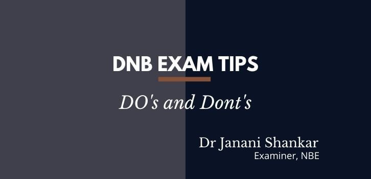 how to pass DNB exams