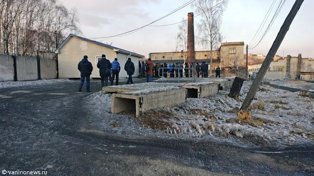 Очередь на работу в порту Ванино ( новости www.vaninonews.ru)