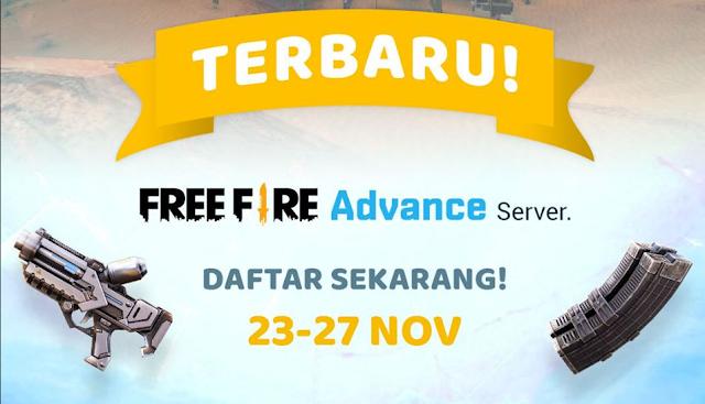 Cara Daftar Advance Server Free Fire Periode November 2019