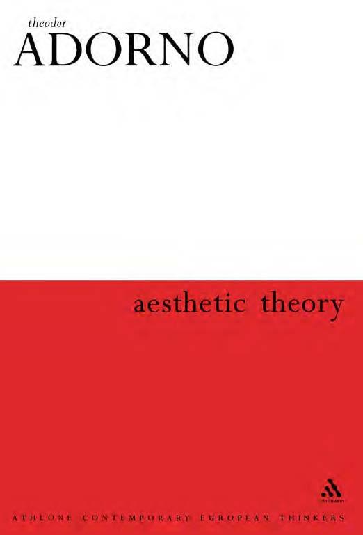 Jual Buku Aesthetic Theory Theodor W Adorno Toko Buku Impor