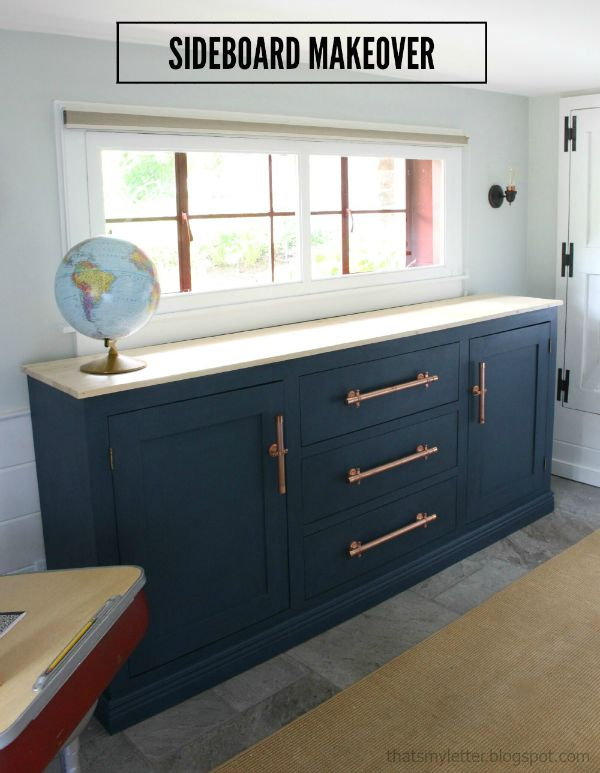diy sideboard with drawers and cabinets free plans