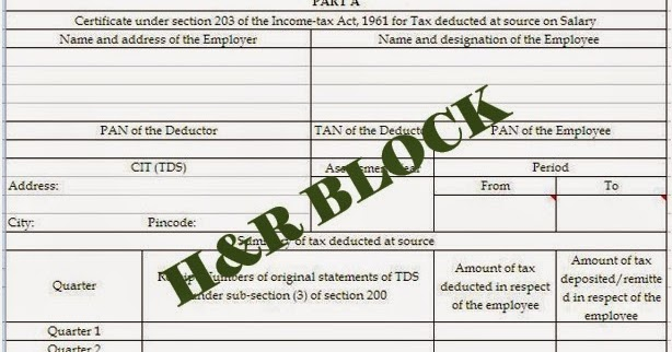 Income Tax Filing: Form-16 for Employees