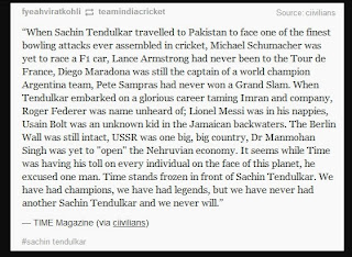 Sachin Tendulkar and What He Means To The World