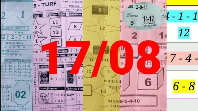 Pronostics quinté pmu mardi Paris-Turf-100 % 17/08/2021