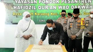 Diakhir Tugas Sebagai Kapolda Sulsel , Irjen Pol Mas Guntur Laupe Bangun Rumah Tahfidz Quran Di Gowa