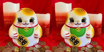 Maneki Neko Tiny Ghost Vinyl Figure by Reis O'Brien x Bimtoy x Bottleneck Gallery