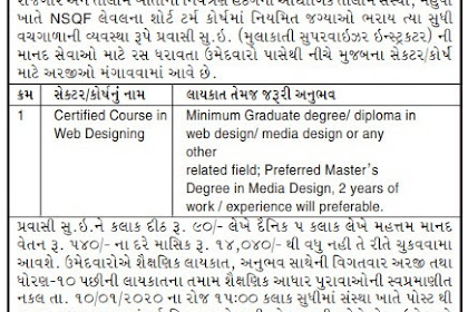 ITI Mahudha Recruitment for Pravasi Supervisor Instructor Posts 2019