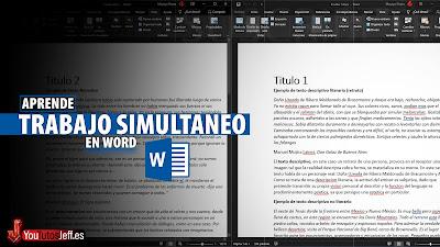trabajo simultaneo word