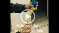 Make your Own Party Popper at home | DIY party popper in one minute