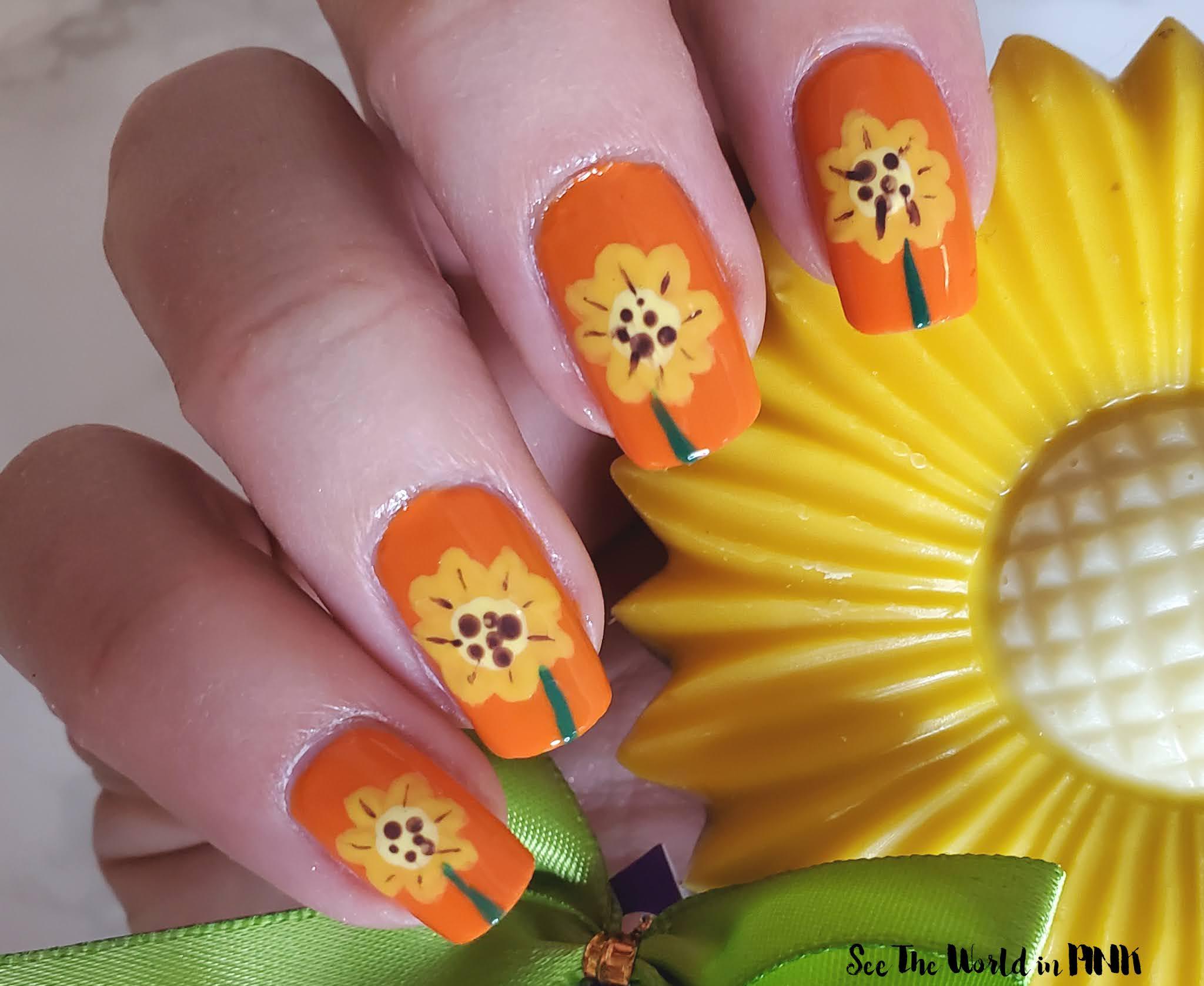 Manicure Monday - Sunflower Nails