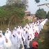 Ratusan Calon Jama'ah Haji Dan Umroh Di Kediri Jawa Timur Ikuti Praktek Manasik Haji Akbar