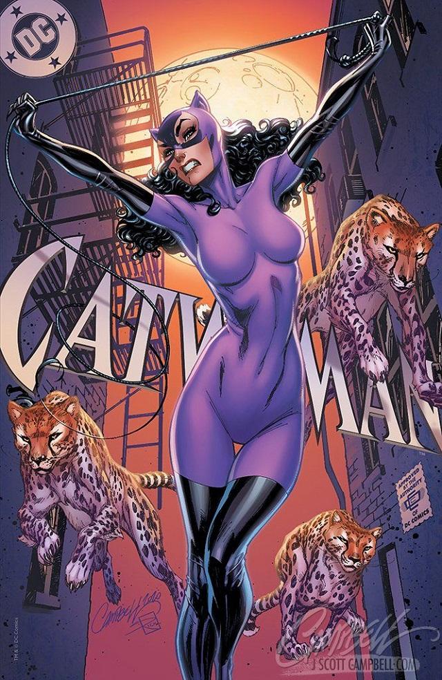 Catwoman con traje felino según J. Scott Campbell