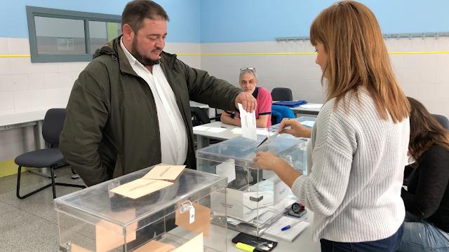 Votación del alcaldable de Vox, Valeriano Arrieta