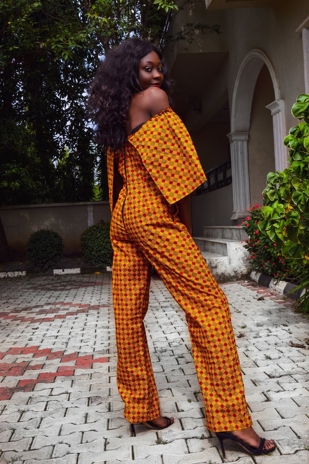 Yellow Ankara Print Jumpsuit