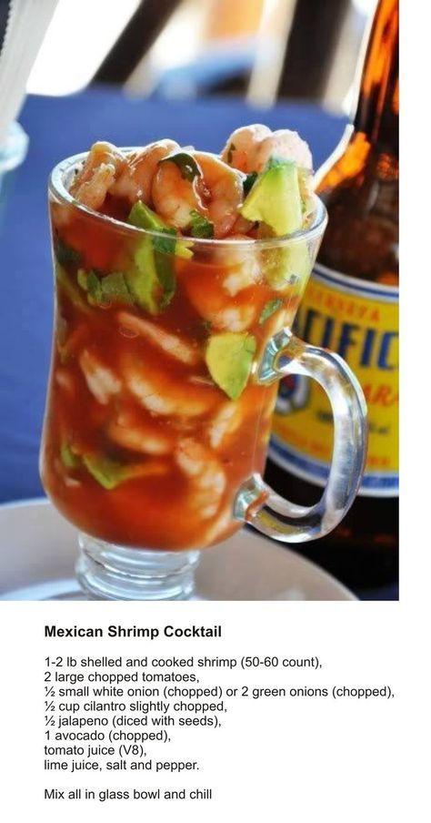 Mexican Shrimp Cocktail #shrimpcocktails #drinks