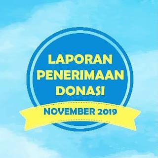 Laporan Penerimaan Donasi November 2019