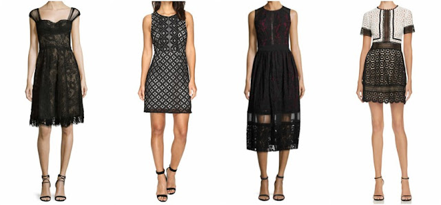 One of these lace dresses is from Monique Lhuillier for $2,995 and the other three are under $100. Can you guess which one is the designer dress?