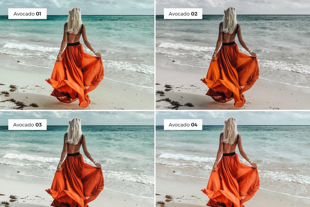 Lightroom Presets for Instagram Portraits – 4 Lightroom Presets AVOCADO (DNG, XMP)