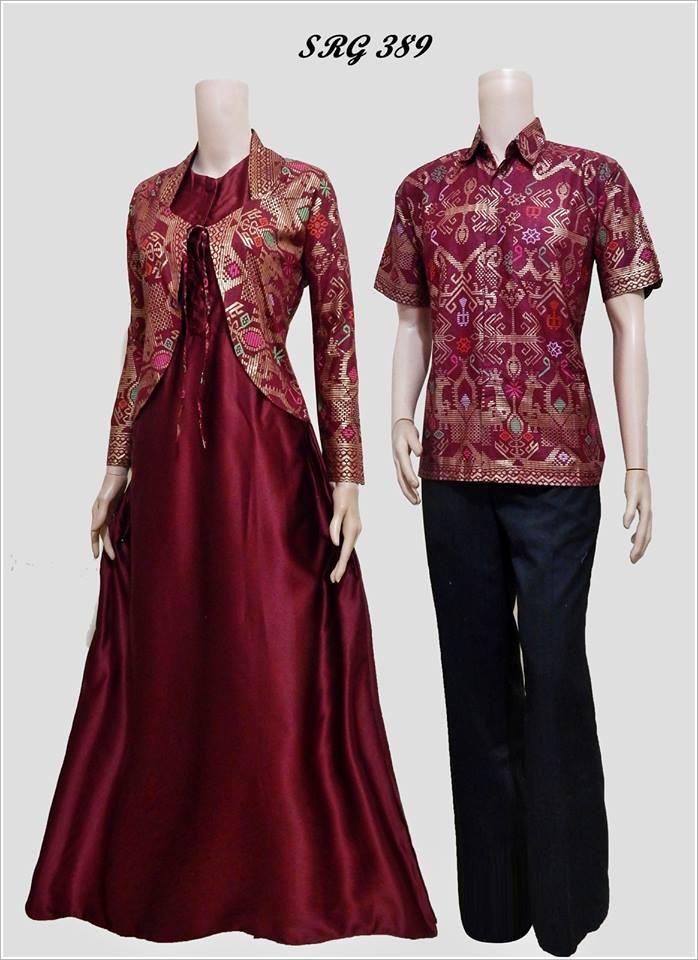 Baju batik gamis model bolero srg 389 Model baju gamis batik formal