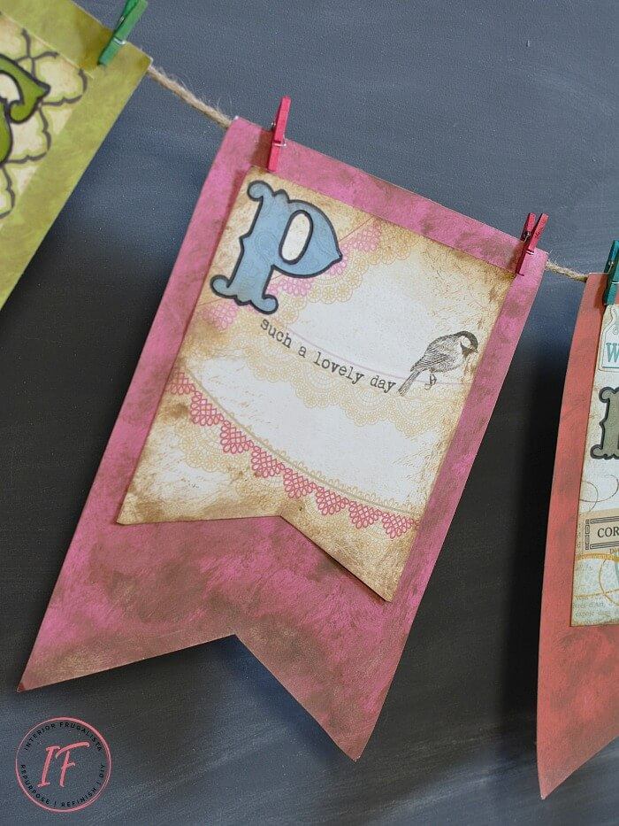 Paper Crafting Dollar Store Spring Craft