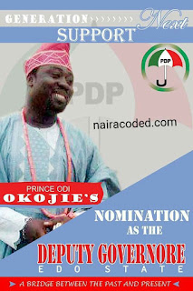 Mecy Johmson Husband Prince Odi Okojie Contesting For Edo State Deputy Governorship Position