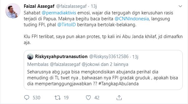 Faizal Asegaf Bela Abu Janda
