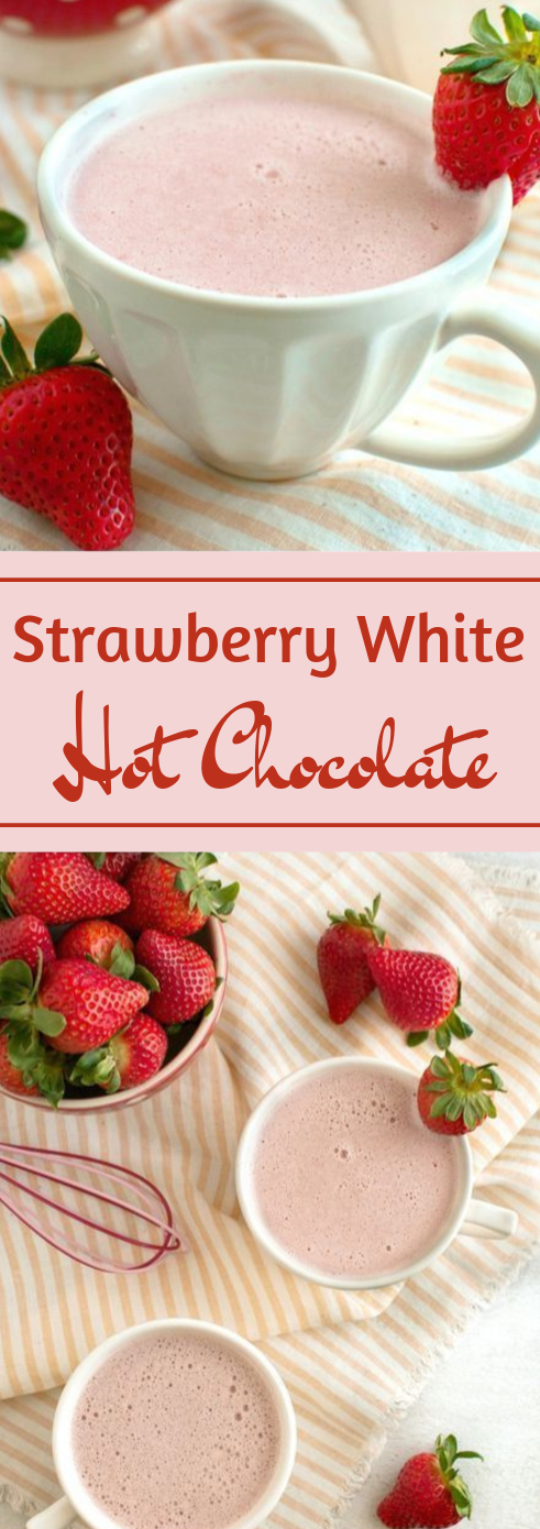STRAWBERRY WHITE HOT CHOCOLATE #whitedrink #hotchocolate #party #easy #freshdrink