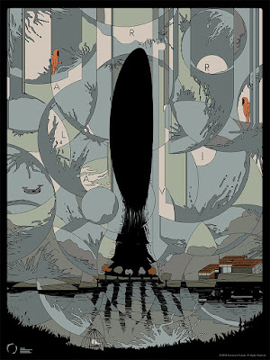 Arrival Movie Poster Screen Print by Ori Toor x Mondo