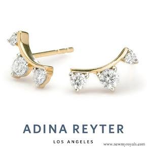 Meghan Markle wore Adina Reyter Three Diamond Amigos Curve Post Earrings