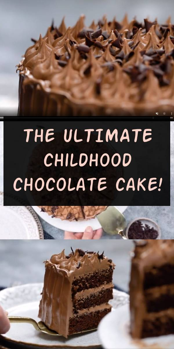 Need an impressive birthday cake recipe? This chocolate gateau is exactly what you're looking for. #chocolate #cake #chocolatecake #birthdaycake