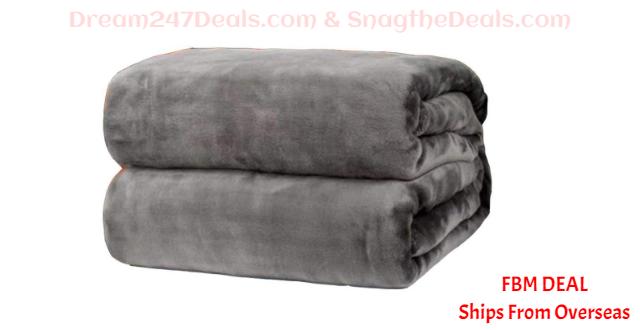 80%  off  Ultra Soft Flannel Blanket