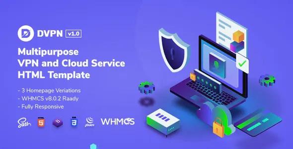 Best Multipurpose VPN and Cloud Service HTML Template