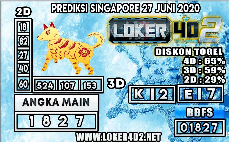 PREDIKSI TOGEL SINGAPORE LOKER4D2 27 JUNI 2020