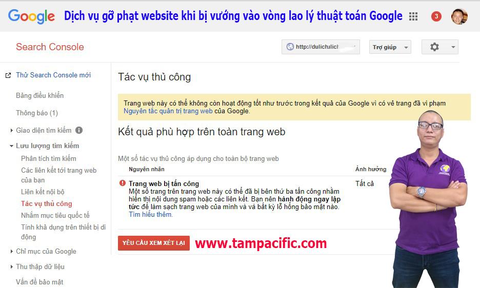 Dịch vụ gỡ phạt website khi bị vướng vào vòng lao lý thuật toán Google