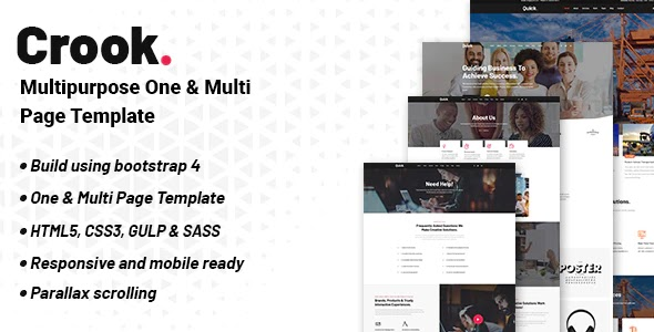 One and Multi-Page Multipurpose Template