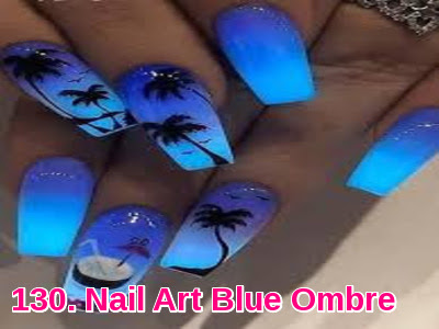 Nail Art Blue Ombre