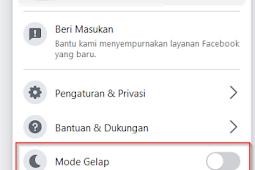 2 Cara Tampilkan Mode Gelap (Dark Mode) Facebook