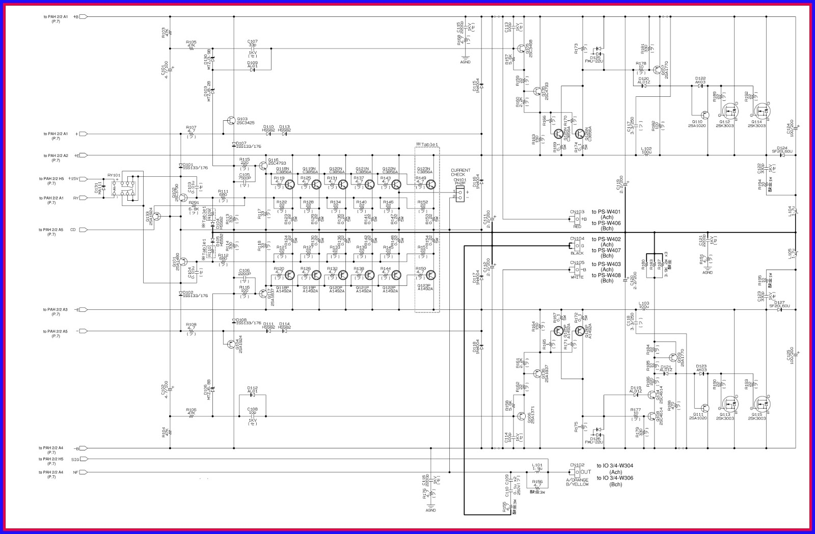 5000 watt amplifier circuit diagram 97 jeep grand cherokee laredo radio wiring watts diagrams library electronic equipment repair centre yamaha xp7000 xp5000 power inspection adjustments and