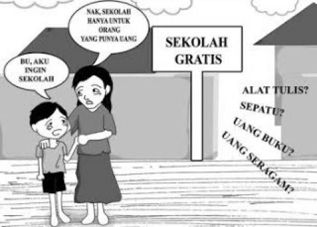 Sekolah Gratis atau Pencitraan? Slogan Sekolah Gratis Menipu Rakyat