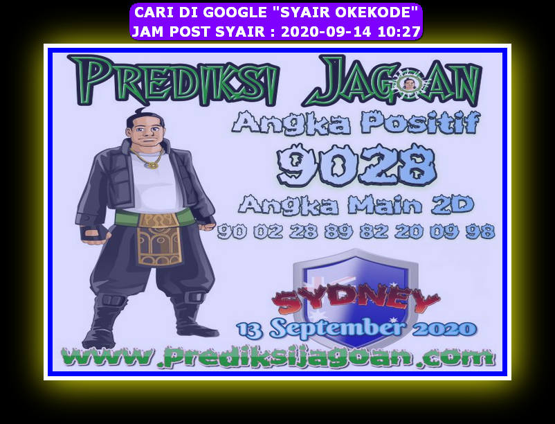 Kode syair Sydney Senin 14 September 2020 184