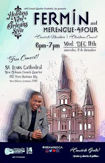 Jose Fermin Ceballos primer dominicano en presentar un Concierto en Saint Louis Cathedral, New Orleans USA.