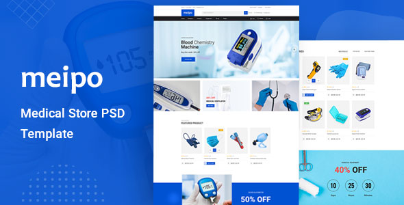 Medical Store Website Template