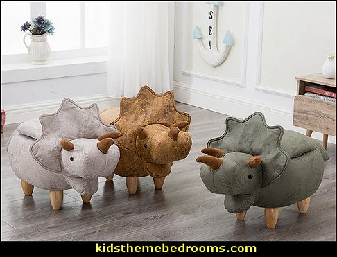 Dinosaur footstools  dinosaur themed bedroom ideas - dinosaur decor - decorating bedrooms dinosaur theme - dinosaur room decor - dinosaur wall murals - dinosaur wall decals - life size dinosaur props - dinosaur bedding - dinosaur duvet - Flintstones dinosaur design bedrooms - dinosaur bedroom ideas - dinosaur themed bedroom accessories
