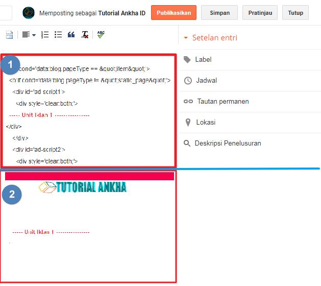 Menulis kode HTML di postingan Blogspot agar Tampil di Publish