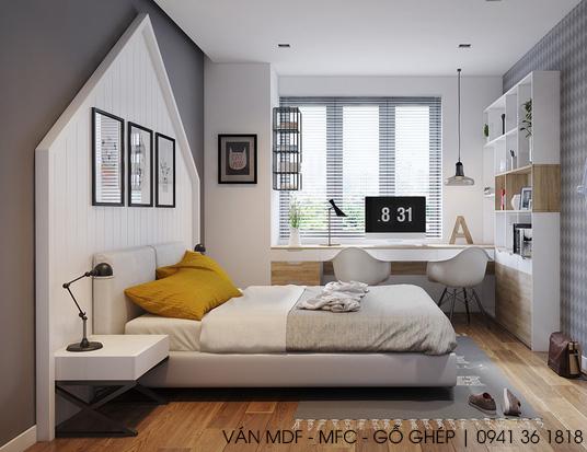 thiết kế phòng ngủ chủ đề thiên nhiên