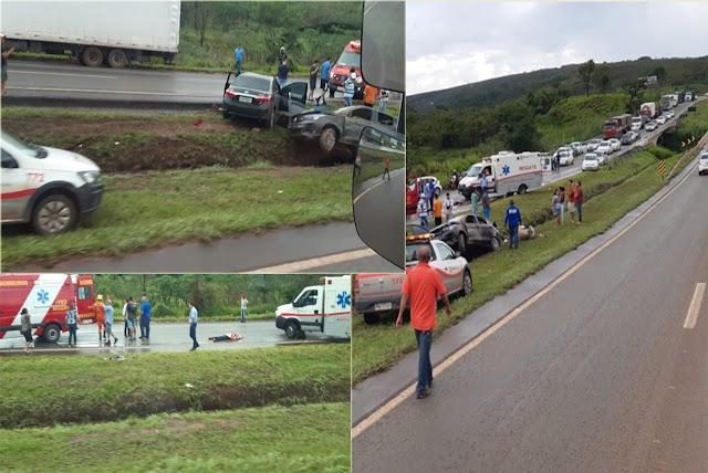 Vídeos mostram acidentes na BR-060