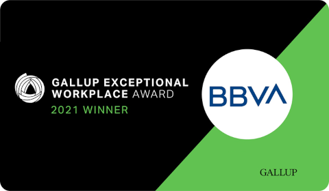 BBVA Gallup Exceptional Workplace Award 2021